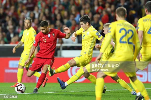LUZ STADIUM LISBON PORTUGAL André Silva of Portugal in action during the Qualifiers Group B to Euro 2020 football match between Portugal vs Ukraine...