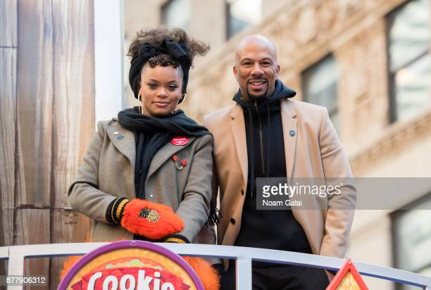 Andra Day and Common attend the 91st Annual Macy's Thanksgiving Day Parade on November 23 2017 in New York City