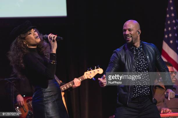"""Andra Day, and Common perform their Grammy and Oscar-nominated song Stand Up for Something from the movie Marshall. At """"The People's State Of..."""