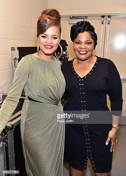 Andra Day and Mo'Nique attend 2016 Trumpet Awards at Cobb Energy Performing Arts Center on January 23 2016 in Atlanta Georgia