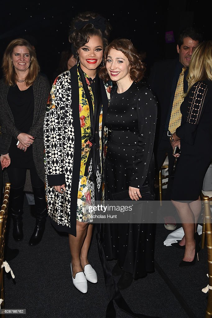 Andra Day and Regina Spektor pose together at the Billboard Women in Music 2016 event on December 9, 2016 in New York City.
