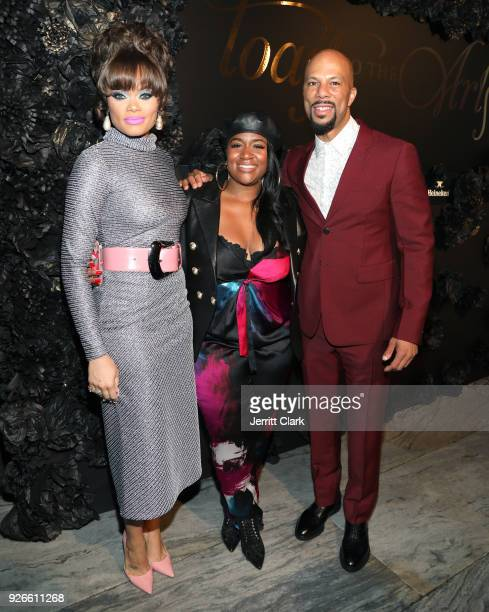 Andra Day Ashaunna Ayars and Common attends Toast To The Arts Presented by Remy Martin on March 2 2018 in West Hollywood California