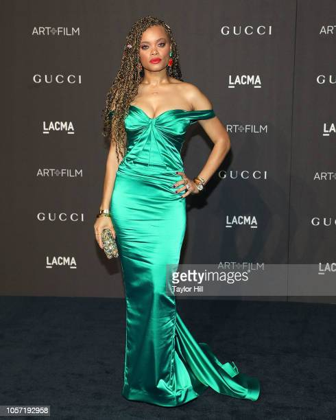 Andra Day attends the 2018 LACMA ArtFilm Gala at LACMA on November 3 2018 in Los Angeles California