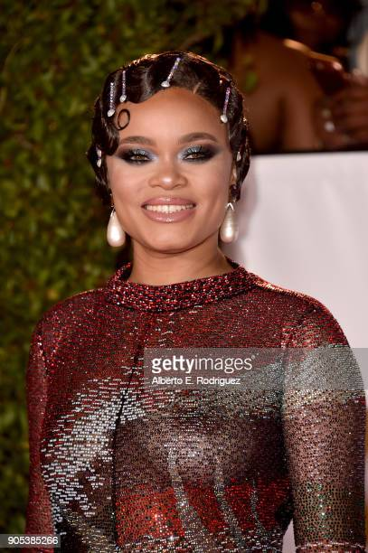 Andra Day attends the 49th NAACP Image Awards at Pasadena Civic Auditorium on January 15 2018 in Pasadena California