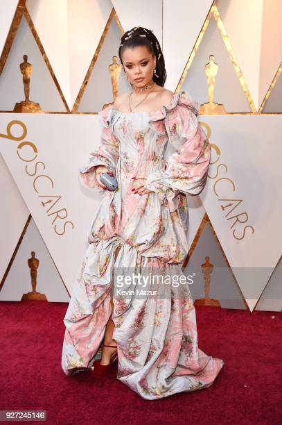 Andra Day attends the 90th Annual Academy Awards at Hollywood Highland Center on March 4 2018 in Hollywood California