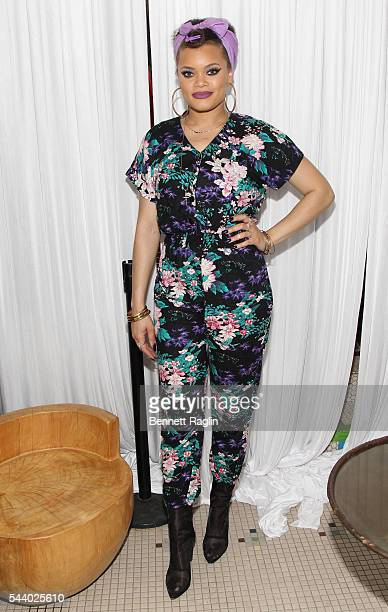 Andra Day attends the Apple RB Rising Event during the 2016 ESSENCE Festival presented By CocaCola at Kingsway Mansion on June 30 2016 in New Orleans...