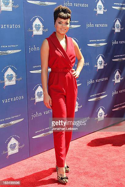Andra Day attends the John Varvatos 10th Annual Stuart House Benefit at John Varvatos Los Angeles on March 10, 2013 in Los Angeles, California.