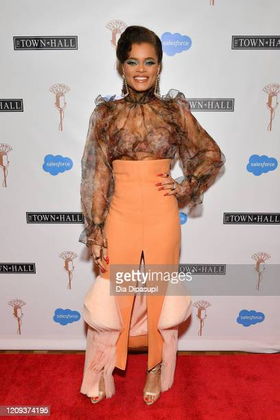 Andra Day attends The Lena Horne Prize for Artists Creating Social Impact inaugural celebration at The Town Hall on February 28, 2020 in New York...