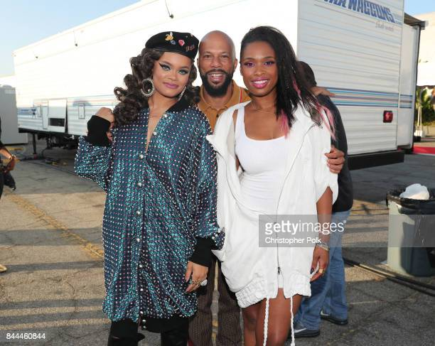 Andra Day Common and Jennifer Hudson attend the XQ Super School Live presented by EIF at Barker Hangar on September 8 2017 in Santa California