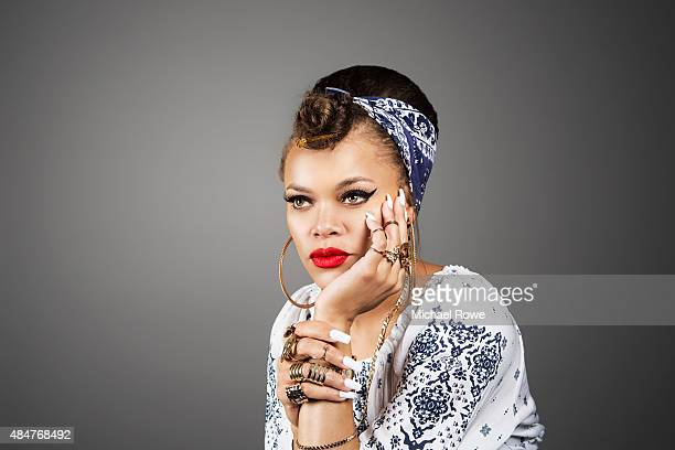 Andra Day is photographed at the 2015 Essence Festival for Essence Magazine on July 3 2015 in New Orleans Louisiana
