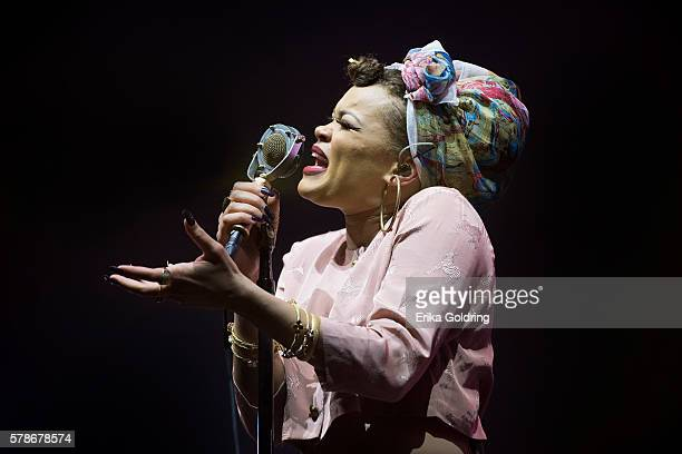 Andra Day performs at the MercedesBenz Superdome on July 3 2016 in New Orleans Louisiana