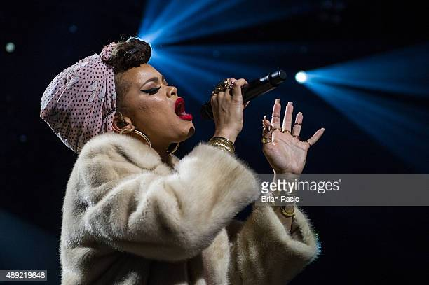 Andra Day performs at The Roundhouse on September 19 2015 in London England