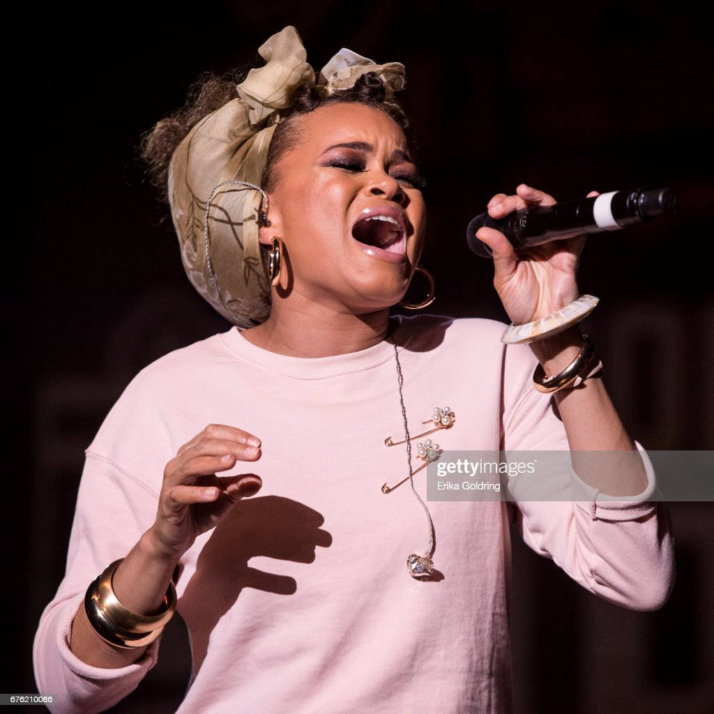 Andra Day performs during Trombone Shorty's Treme Threauxdown at Saenger Theatre on April 29, 2017 in New Orleans, Louisiana.