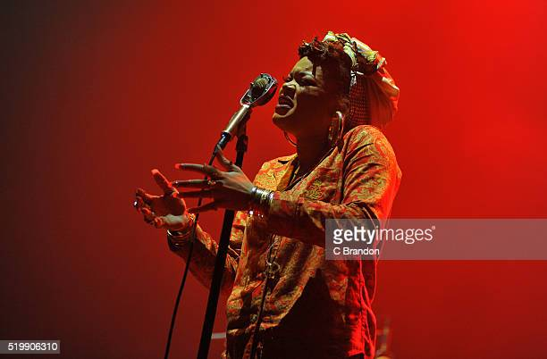 Andra Day performs on stage at the O2 Academy Brixton on April 8 2016 in London England