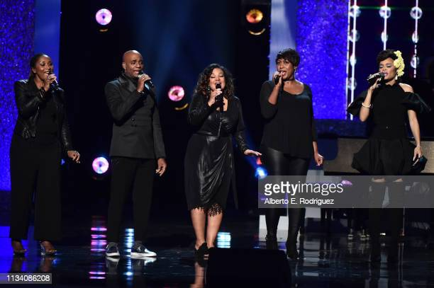 Andra Day performs onstage at AllStar Lineup Pays Tribute At 'Aretha A GRAMMYCelebration For The Queen Of Soul at The Shrine Auditorium on January...