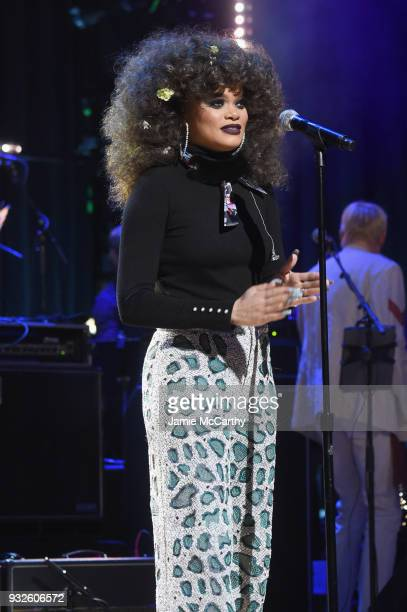 Andra Day performs onstage at the Second Annual LOVE ROCKS NYC A Benefit Concert for God's Love We Deliver at Beacon Theatre on March 15 2018 in New...