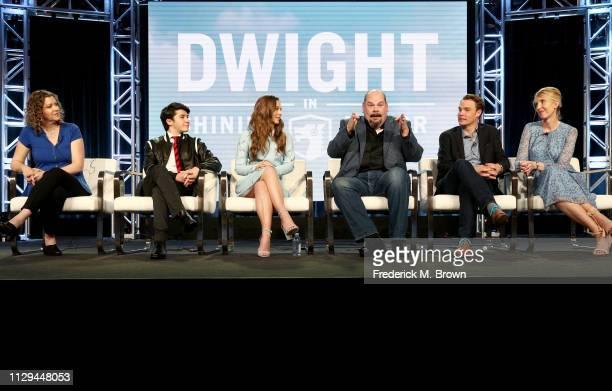 Andra Duke Sloane Morgan Siegel Caitlin Carmichael Joel McCrary Brian Adams and LeeAnne Adams of the television show 'Dwight in Shining Armor' speak...