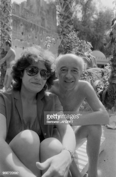 Andréa Ferréol et Michel Audiard lors des 4ème rencontre de la fondation Philip Morris pour le cinéma français à Taroudant en novembre 1981 Maroc