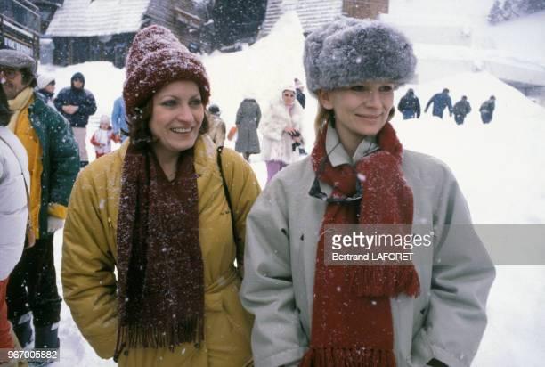 Andréa Ferréol et Nicole Garcia au Festival d'Avoriaz le 19 janvier 1981 France