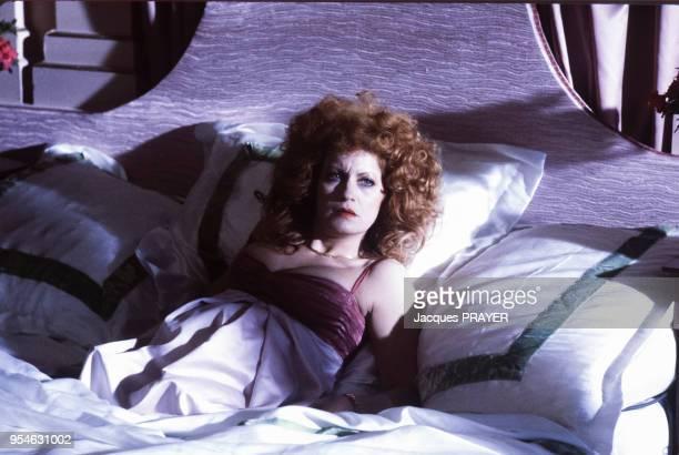 Andréa Ferréol lors du tournage du film 'A Zed and Two Noughts' le 3 mai 1985 PaysBas
