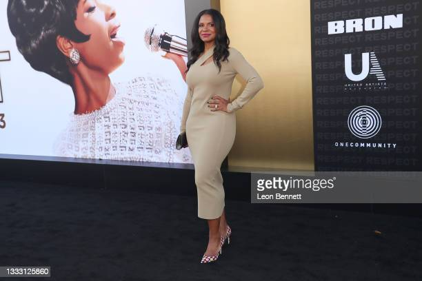 """Andra McDonald attends the Los Angeles Premiere Of MGM's """"Respect"""" at Regency Village Theatre on August 08, 2021 in Los Angeles, California."""