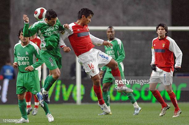 Andrade and China during the Portuguese Premier League match between SC Braga and Naval on March 20 2007