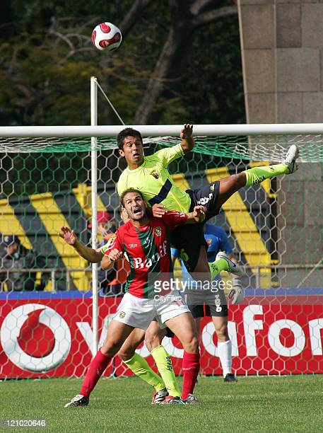 Andrade and Lipatin during the Portuguese Bwin League match between Maritimo and SC Braga at Funchal Portugal on April 1 2007