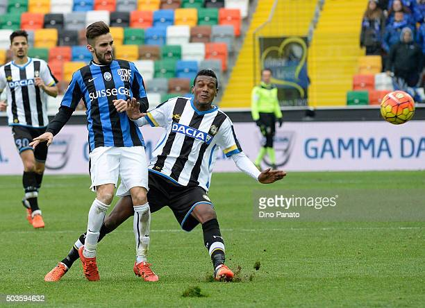 Andrade Edenilson of Udinese Calcio competes with Marco Dalessandro of Atalanta BC during the Serie A match between Udinese Calcio v Atalanta BC at...