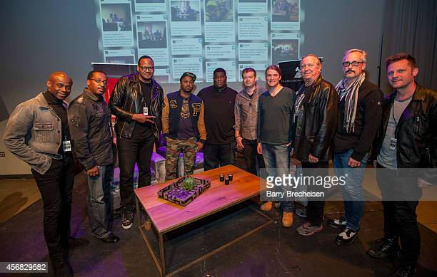 KEM Andrae Ambrose Rick Robinson Just Blaze Salaam Remi Andrew Barber Matt Hennessy Larry Sturm Brian Deck and Steven Gillis during the GRAMMY Up...