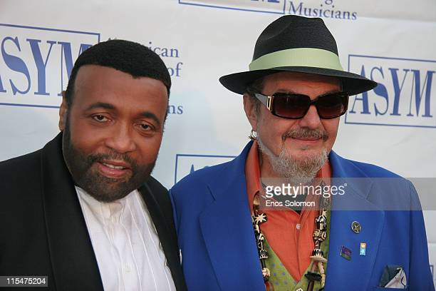 Andrae Crouch and Dr John during American Society of Young Musicians 15th Annual Spring Benefit Concert Awards at Celebrity Centre International in...