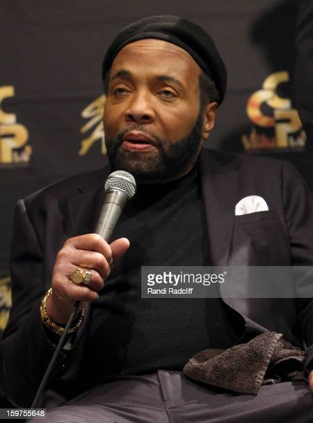 Andrae Crouch attends the 28th Annual Stellar Awards Press Room at Grand Ole Opry House on January 19 2013 in Nashville Tennessee