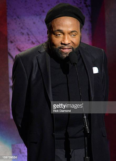Andrae Crouch speaks the 28th Annual Stellar Awards Show at Grand Ole Opry House on January 19 2013 in Nashville Tennessee