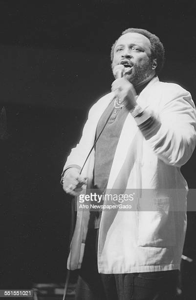 Andrae Crouch the gospel singer on stage performing 2011