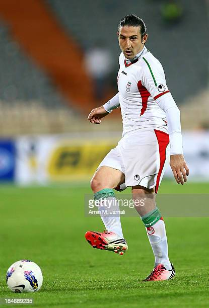 Andranik Teymourian during AFC Asian Cup Qualifiers between Iran and Thailand at Azadi Stadium Tehran Iran on October 15 2013 in Tehran Iran