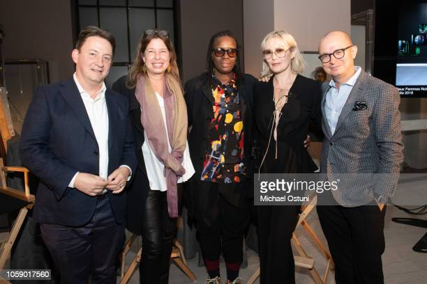Andras Szanto Anne Pasternak Mickalene Thomas Tatijana Shoan and Antonio Seward attend the AS IF Magazine Speaker Series With Audemars Piguet...