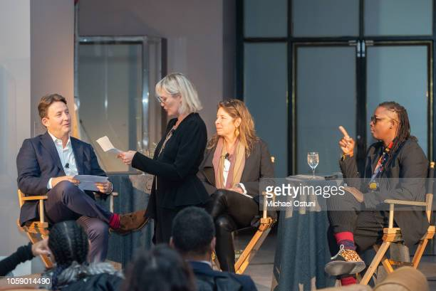 Andras Szanto Tatijana Shoan Anne Pasternak and Mickalene Thomas attend the AS IF Magazine Speaker Series With Audemars Piguet Brooklyn Museum on...
