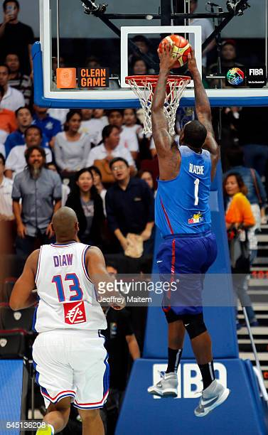 Andray Blatche of Philippines is seen in action during the 2016 FIBA World Olympic Qualifying basketball Group B match between Philippines and France...
