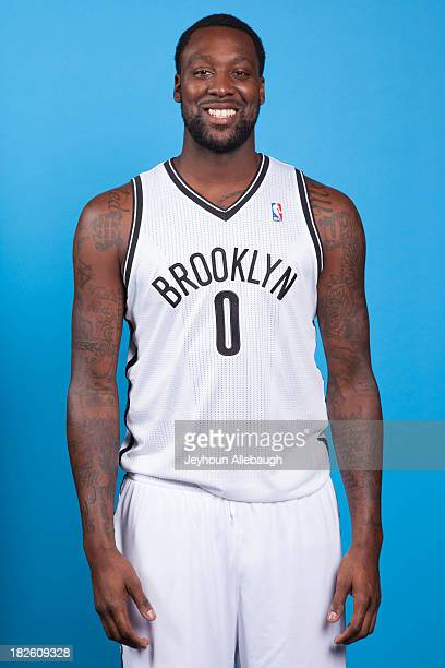 Andray Blatche of the Brooklyn Nets poses for a portrait during Media Day on September 30 2013 at Barclay's Center in Brooklyn Borough of New York...