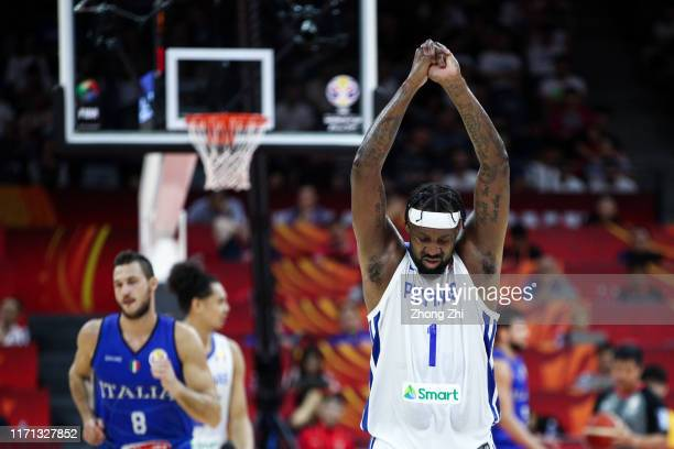 Andray Blatche of the Philippines National Team reacts against the Italy National Team during the 1st round of 2019 FIBA World Cup at GBA...