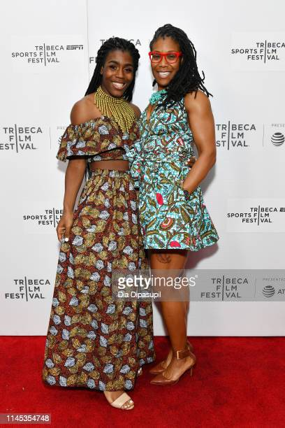 """Andraya Yearwood and Ngozi Nnaji attend the """"Changing The Game"""" screening during the 2019 Tribeca Film Festival at Village East Cinema on April 26,..."""