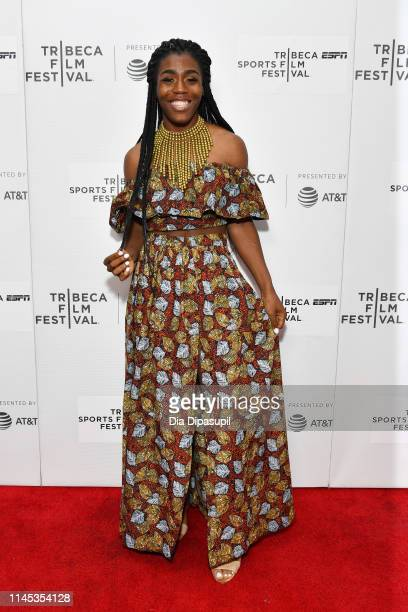 """Andraya Yearwood attends the """"Changing The Game"""" screening during the 2019 Tribeca Film Festival at Village East Cinema on April 26, 2019 in New York..."""