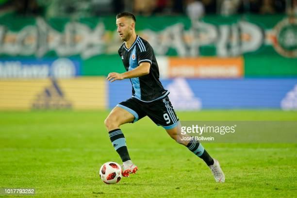 Andraz Sporar of Slovan Bratislava during the UEFA Europa League Third Round Qualifier Second Leg match between SK Rapid v Slovan Bratislava at...