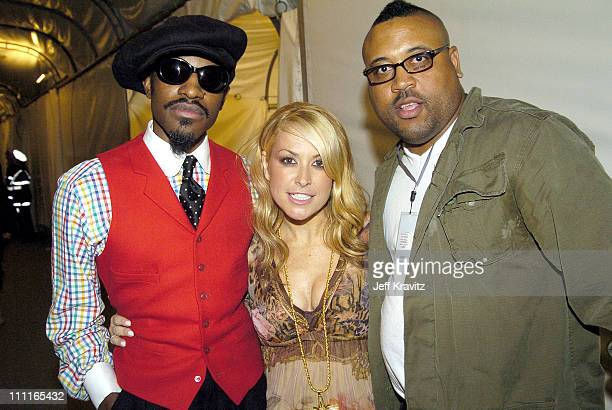 Andre 3000 and Anastacia during 2004 MTV European Music Awards Backstage And Audience at Torr di Valle in Rome Italy