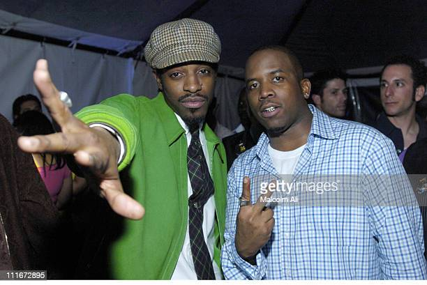 Andre 3000 and Big Boi during Outkast Grammy Party Presented by Hard Rock Hotel and Casino Las Vegas at Private Residence in Hollywood California...
