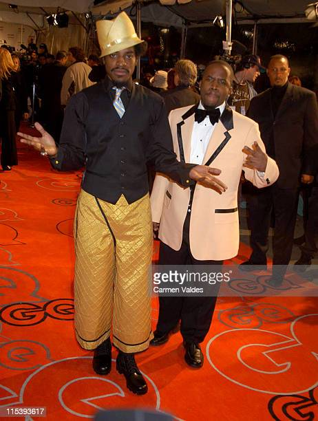 Andre 3000 and Big Boi of Outkast during 2002 GQ Men of the Year Awards Outside Arrivals at Hammerstein Ballroom in New York City New York United...