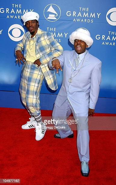 Andre 3000 and Big Boi of OutKast during 44th GRAMMY Awards Arrivals at Staples Center in Los Angeles California United States