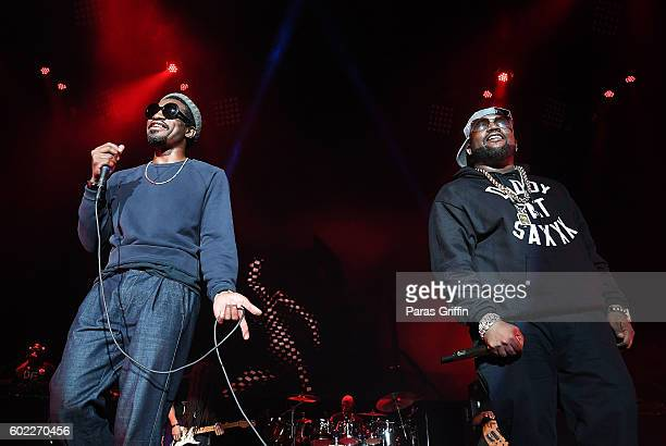 Andre 3000 and Big Boi of Outkast perform onstage at 2016 ONE Musicfest at Lakewood Amphitheatre on September 10 2016 in Atlanta Georgia