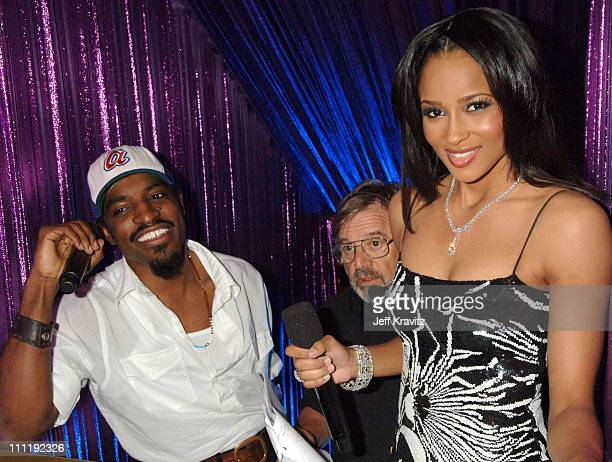 Andre 3000 and Ciara during 2006 MTV Video Music Awards Backstage at Radio City Music Hall in New York New York United States