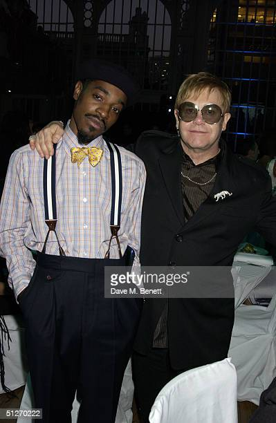 Andre 3000 and Elton John arrive at the GQ Men Of The Year Awards at the Royal Opera House on September 7 2004 in London The seventh annual awards...