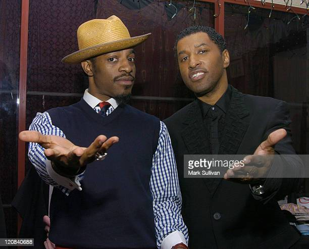 Andre 3000 and Kenny 'Babyface' Edmonds in Backstage Creations Talent Retreat
